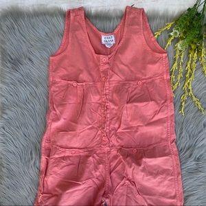 Vintage Pants & Jumpsuits - Vintage C'est Olivia Coral Cotton Jumpsuit S